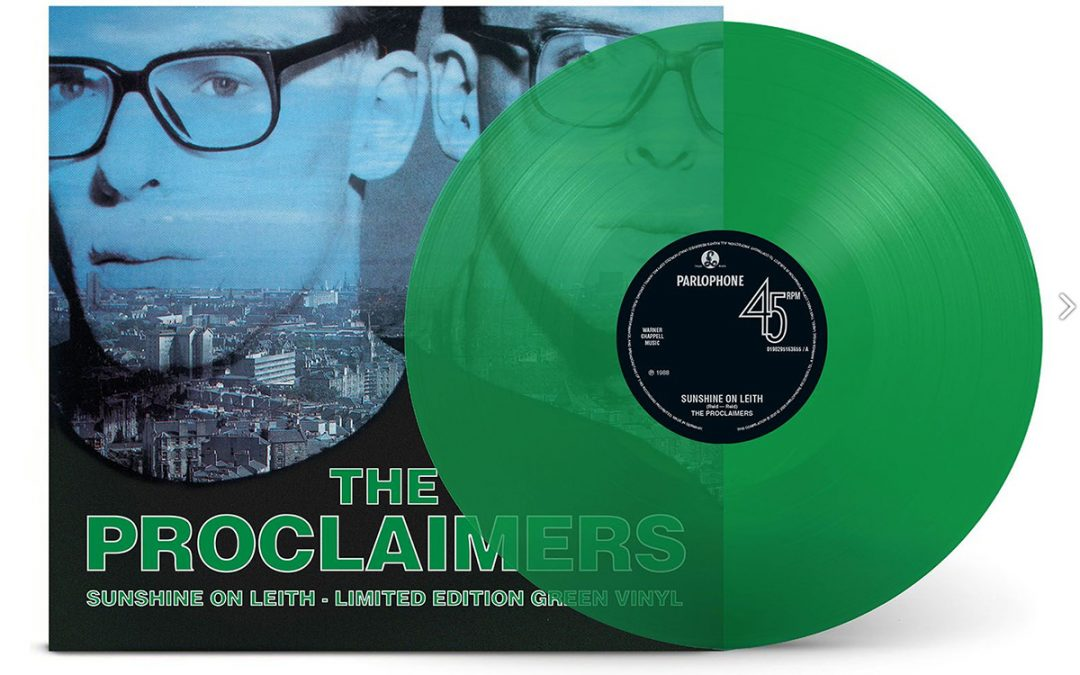 SUNSHINE ON LEITH (single version) on LIMITED EDITION GREEN VINYL proceeds to NHS Edinburgh & Lothians.